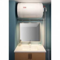 Chauffe-eau électrique 100 L Thermor blindé horizontal mural raccordement côté