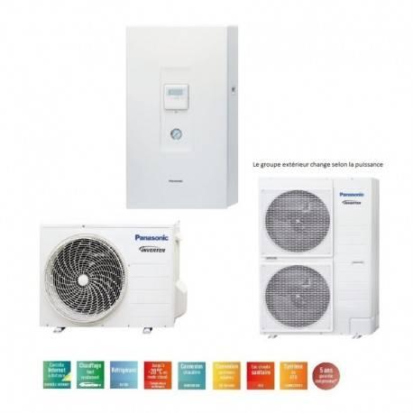 Pompe à chaleur Panasonic Aquarea SDC Bi-bloc haute performance 16 Kw monophasé