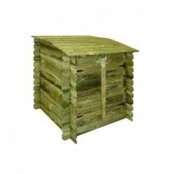 Coffre de filtration CLASSIC en bois imprégné H117 x 120x 104cm