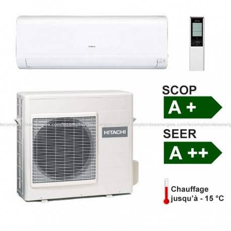 Climatiseur monosplit Hitachi Performance 2.5 Kw
