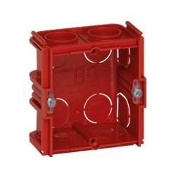 Boîte monoposte Batibox - maçonnerie - carrée associable - prof. 40