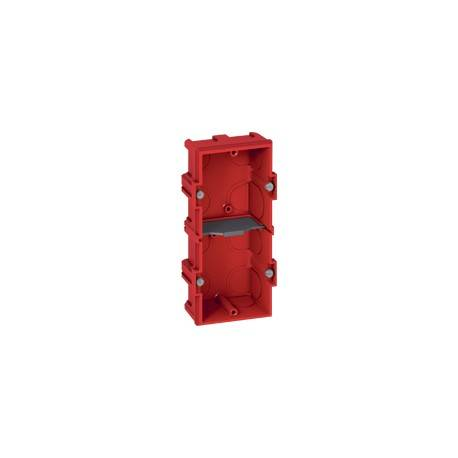 Boîte multiposte Batibox - maçonnerie - 2 postes 4/5 mod - vert/horiz -prof. 40