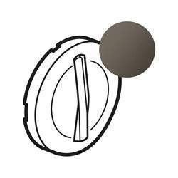 Enjoliveur Céliane - VV / poussoir - doigt étroit graphite