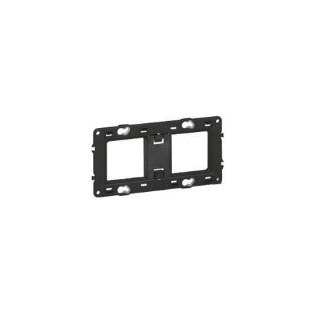 Support pour fixation à vis Batibox - montage horiz/vert -pour 2 postes -4/5 mod