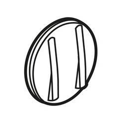 Enjoliveur Céliane - double VV/poussoir - doigt étroit blanc