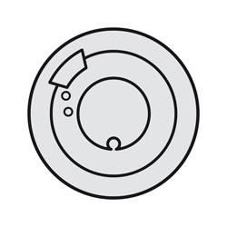 Enjoliveur Céliane - thermostat d'ambiance - titane