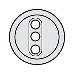 Enjoliveur Céliane - prises RCA - titane