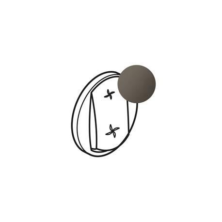 Enjoliveur Céliane - commande VMC - graphite