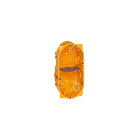 Boîte multiposte Batibox - cloison sèche - 2 postes - 4/5 mod - prof. 40
