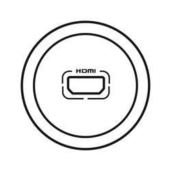 Enjoliveur Céliane - prise audio/video HDMI - blanc