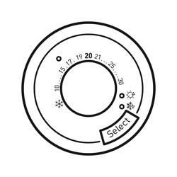 Enjoliveur Céliane - thermostat fil pilote / CPL - blanc