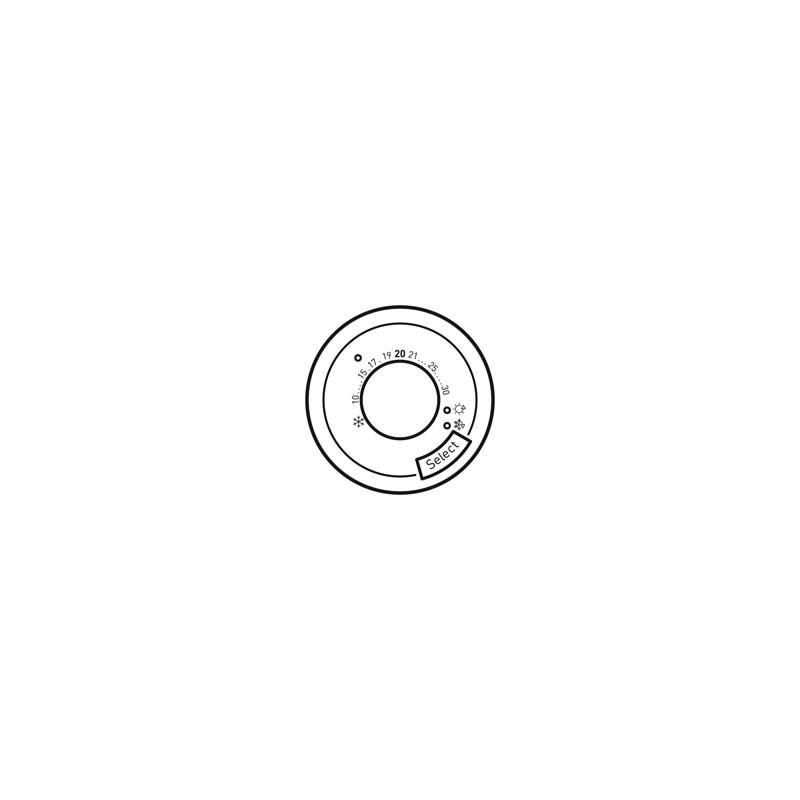 enjoliveur c liane thermostat fil pilote cpl blanc. Black Bedroom Furniture Sets. Home Design Ideas