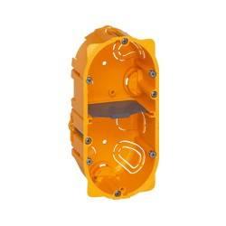 Boîte multiposte Batibox - cloison sèche - 2 postes - 4/5 mod - prof. 50