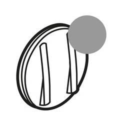 Enjoliveur Céliane - double VV/poussoir - doigt étroit titane