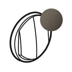 Enjoliveur Céliane - double VV/poussoir - doigt large graphite