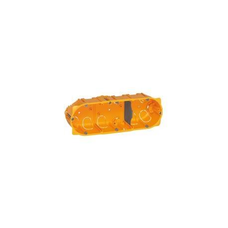 Boîte multiposte Batibox - cloison sèche - 3 postes - 6/8 mod - prof. 50