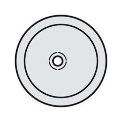 Enjoliveur Céliane - prise audio jack 3,5 mm - titane