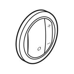 Enjoliveur Céliane - variateurs - blanc