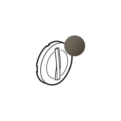 Enjoliveur Céliane - VV / poussoir avec couronne lum - doigt étroit graphite