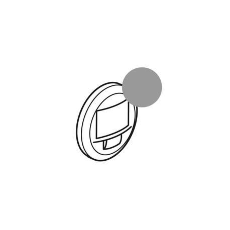 Enjoliveur Céliane - écodétecteur avec dérogation - titane