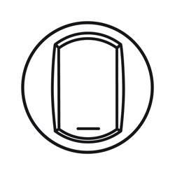 Enjoliveur Céliane - VV / poussoir avec porte étiquette - doigt large blanc
