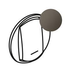 Enjoliveur Céliane - VV / poussoir avec porte étiquette - doigt large graphite