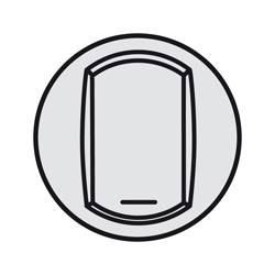 Enjoliveur Céliane - VV / poussoir avec porte étiquette - doigt large titane