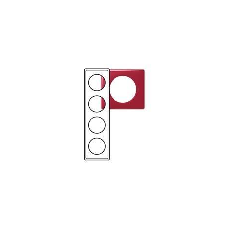 Plaque Céliane - Glacé - 4 postes - Magenta