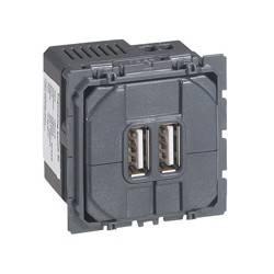 Prise double Céliane pour chargeur USB - 1500 mA