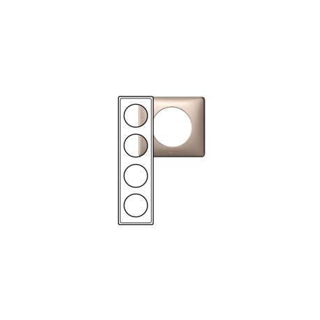 Plaque Céliane - Anodisé - 4 postes - mica