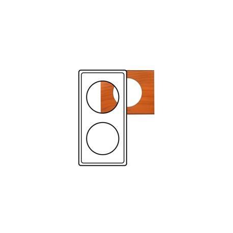 Plaque Céliane - Matières - 2 postes - Cèdre