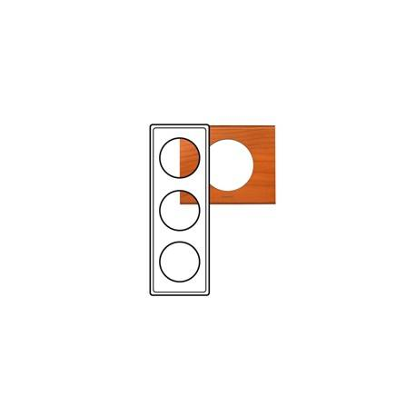 Plaque Céliane - Matières - 3 postes - Cèdre