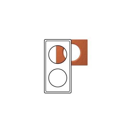 Plaque Céliane - Matières - 2 postes - Terra cota