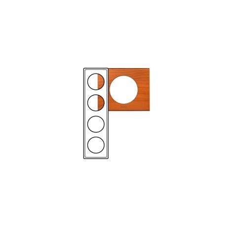Plaque Céliane - Matières - 4 postes - Cèdre