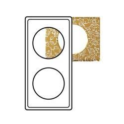 Plaque Céliane - Matières - 2 postes - Féerie (porcelaine)
