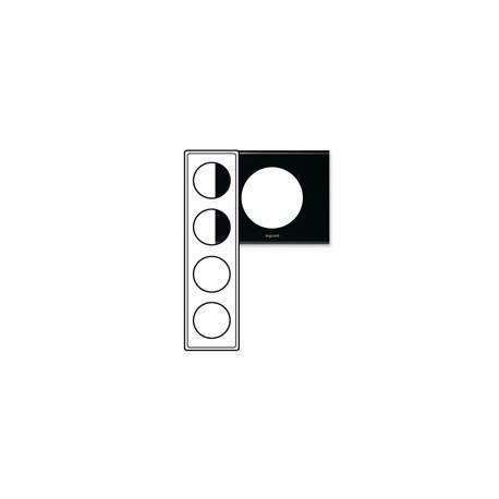 Plaque Céliane - Matières - 4 postes - Corian® Nocturne