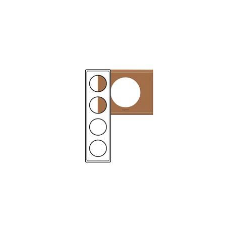 Plaque Céliane - Matières - 4 postes - Cuir Camel