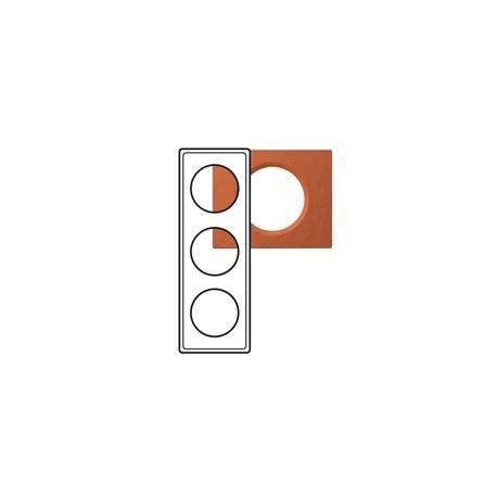 Plaque Céliane - Matières - 3 postes - Terra cota