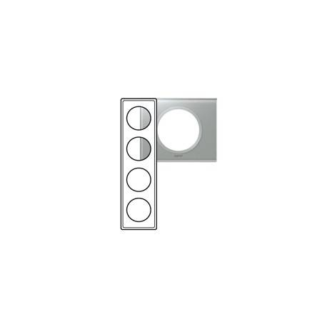 Plaque Céliane - Matières - 4 postes - Verre Titane