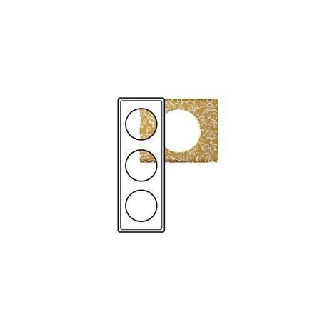 Plaque Céliane - Matières - 3 postes - Féerie (porcelaine)
