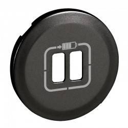 Enjoliveur Céliane - prise double pour chargeur USB - graphite