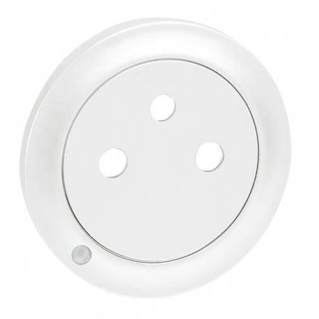 Enjoliveur Céliane - prise 2P+T Surface à voyant - blanc