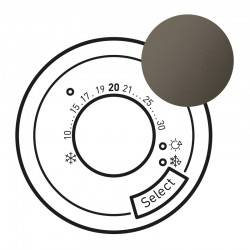 Enjoliveur Céliane - thermostat fil pilote / CPL - graphite