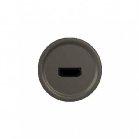 Enjoliveur Céliane - prise audio/video HDMI - graphite