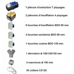 kit accessoire pour Vmc double Flux Unelvent Kit P04