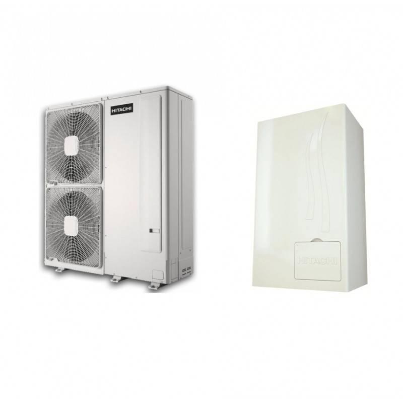 Pompe chaleur air eau hitachi yutaki s 4 0 triphas for Installation pompe a chaleur air eau