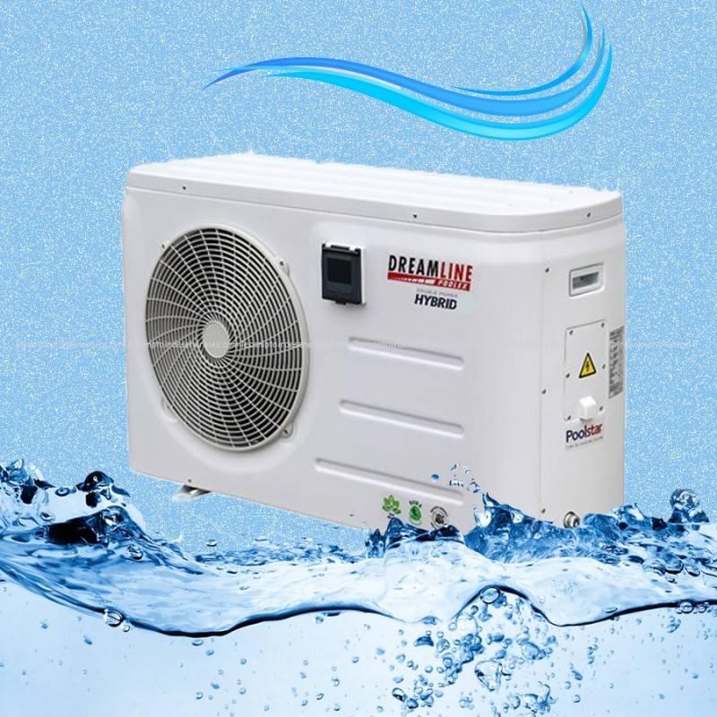 Pompe chaleur piscine poolex dreamline hybrid triphas jusqu 39 95 m3 - Pompe a chaleur piscine triphase ...