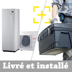 Pompe à chaleur air-eau Atlantic Alféa Extensa Duo + 5 Kw monophasé + installation