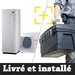 Pompe à chaleur air-eau Atlantic Alféa Extensa Duo + 10 Kw monophasé + installation
