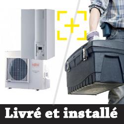 Pompe à chaleur air-eau Atlantic Alféa Extensa + 10 Kw monophasé + installation